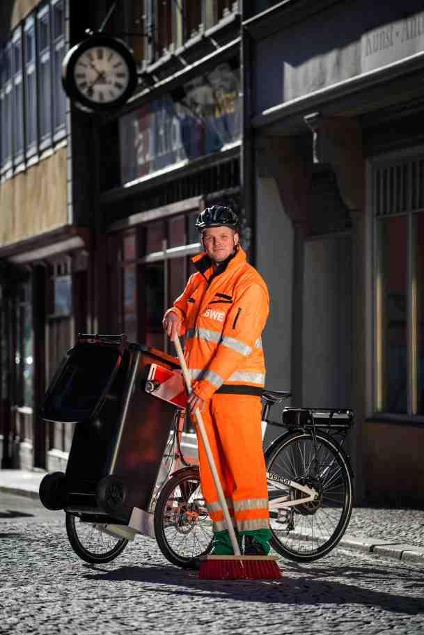 Stadtwerke Erfurt , Elektrische Lastenräder in der städtischen Straßenreinigung