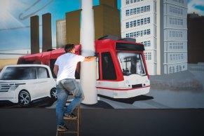 Feinschliff an der Straßenbahn