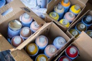 1200 Spraydosen gingen drauf.