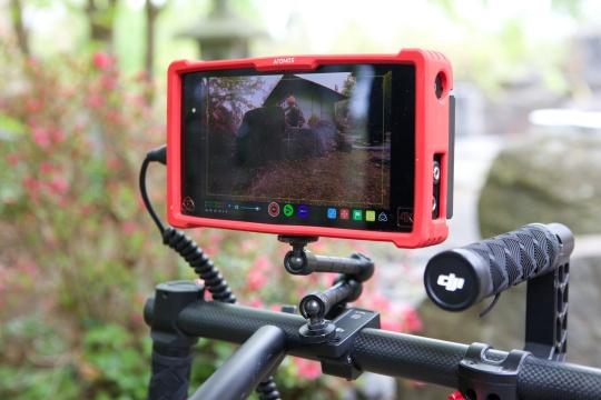 Ein Monitor zeigt das Bild