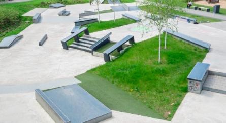 In den Park integriert.