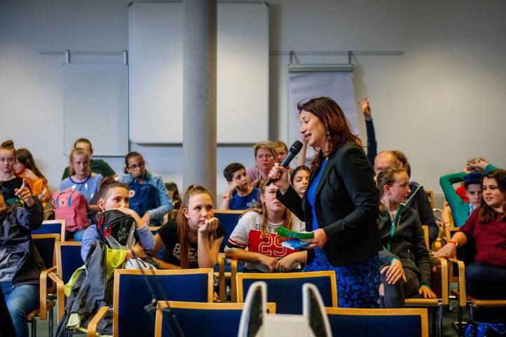 Anja Siegesmund lies es sich nicht nehmen und stellte die letzten Fragen im Projekt.