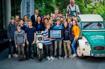 Glückwunsch! Die 7b vom Heinrich-Mann-Gymnasium belegte den ersten Platz.