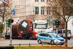 Der Koloss von Erfurt: Schwerlasttransport für neues Heizkraftwerk