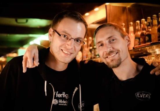 Besitzer der Musikbar und Unterstützer der Spendenaktion: Florian Nolte und Johannes Weidner