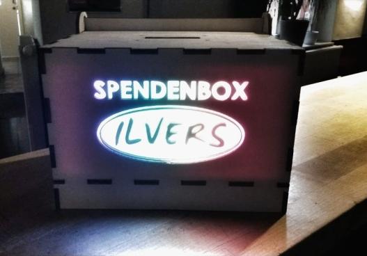 """Die Spendenbox wurde vom """"Ilvers"""" bereitgestellt"""