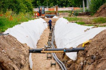 Erfurt , 130619 , SWE Stadtwerke Erfurt GmbH, Umspannwerk Erfurt/Nord An der Lache Im Bild: Hochspannungskabel für 110 kV werden verlegt Foto: Steve Bauerschmidt